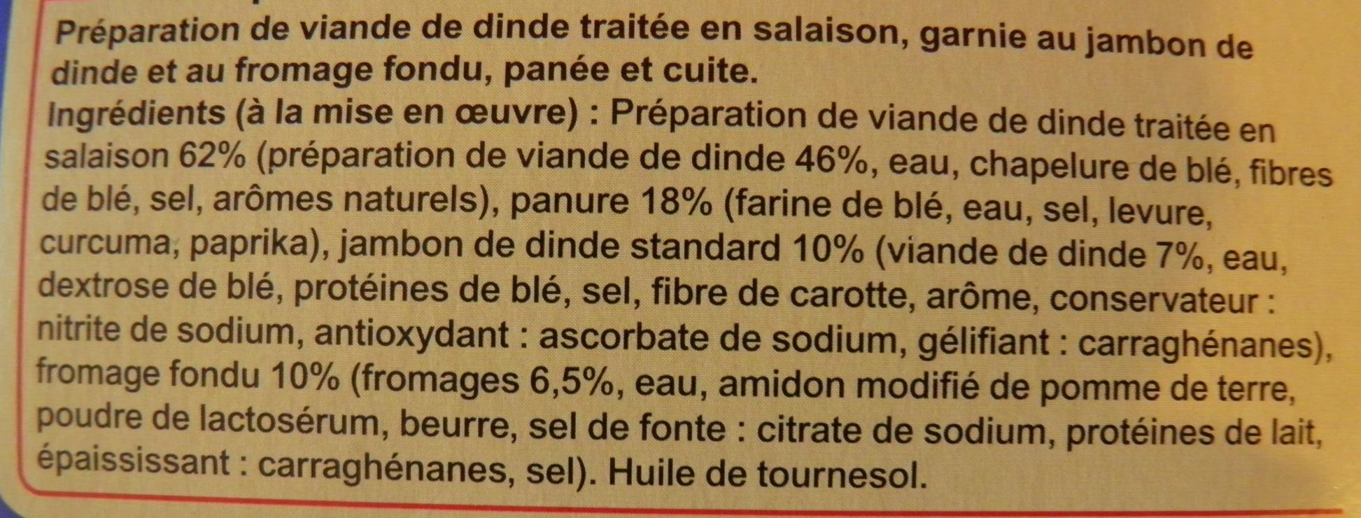 Cordons Bleus de dinde (x 4) - Ingrédients - fr