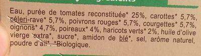 Velouté Légumes saveur du Sud - Ingrédients - fr
