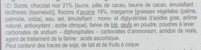 Galettes à l'avoine Au chocolat noir - Ingredients - fr