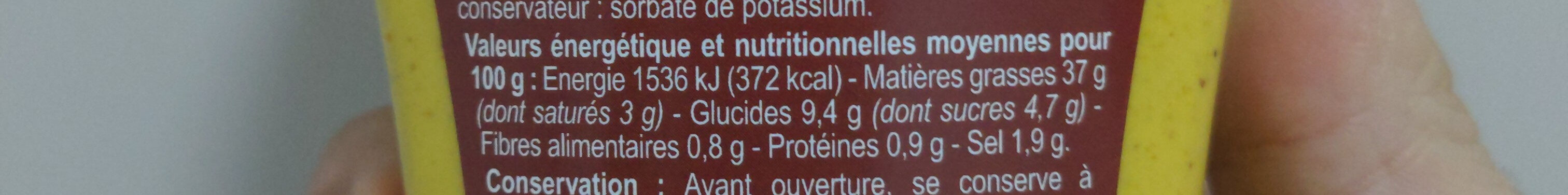 Sauce Curry - Nutrition facts - fr