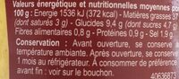 Sauce Curry - Informations nutritionnelles - fr
