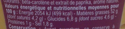 Sauce samouraï - Nutrition facts