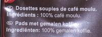 Dosettes de café EXTRA LONG - Ingrédients - fr
