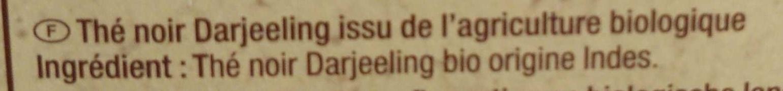 Thé Darjeeling - Ingrediënten