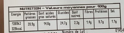 2 roulés au fromage - Voedingswaarden - fr