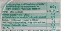 Flan nappé de caramel - Valori nutrizionali - fr
