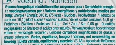 Flan nappé de caramel - Informations nutritionnelles - fr
