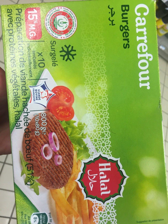 Burgers 10 hachés au bœuf* - Informations nutritionnelles