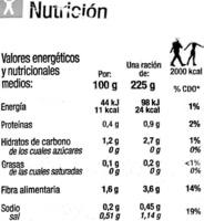 """Cardo congelado """"Carrefour"""" - Información nutricional - es"""