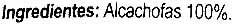 Alcachofa baby - Ingredients