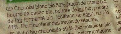 Galettes de riz nappées chocolat blanc - Ingredients - fr