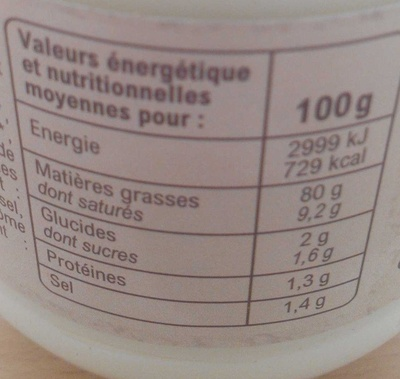 Mayonnaise Bio à Moutarde de Dijon - Nutrition facts - fr