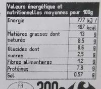 Hachis Parmentier - Voedingswaarden - fr