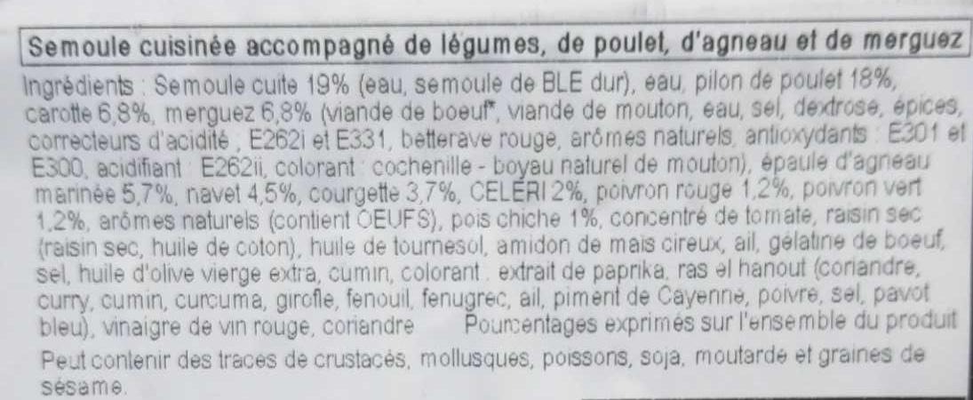 Couscous royal - Ingrediënten - fr