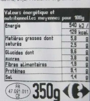 Couscous royal - Voedingswaarden - fr