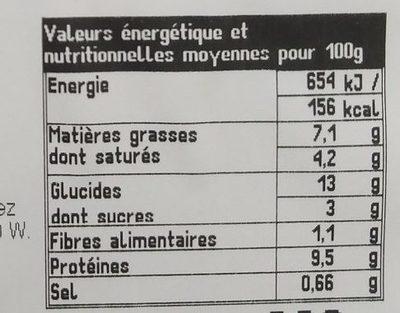 Gratin de Macaroni Jambon à l'Ancienne - Voedingswaarden - fr