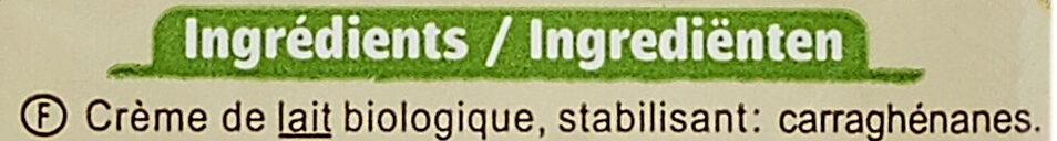 Crème Fluide Entière - Ingrédients - fr