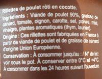 Rillettes poulet roti en cocotte - Ingrédients - fr