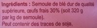 Pâtes d'Alsace Nids 5 mm (7 œufs frais) - Ingrédients - fr