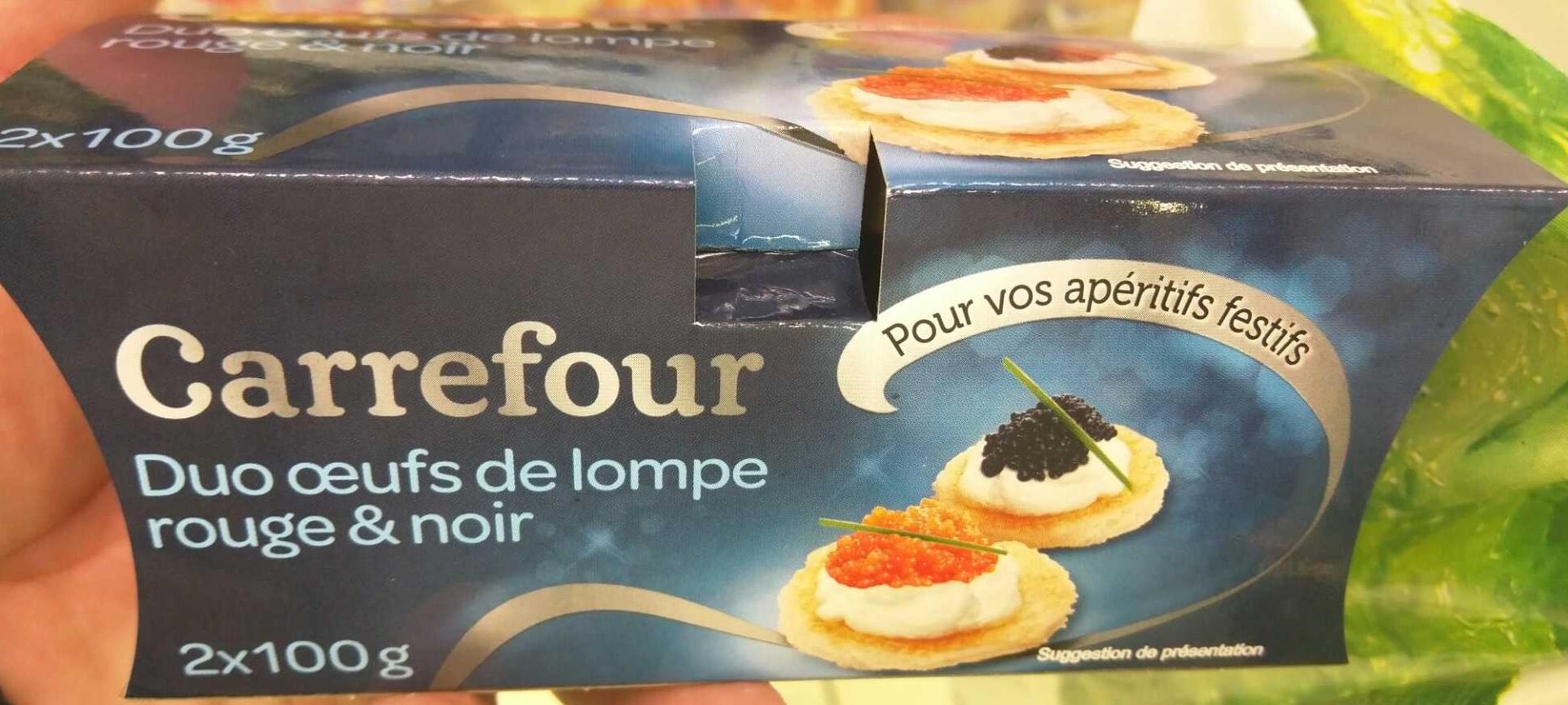 Duo oeufs de lompe rouge & noir - Product - fr