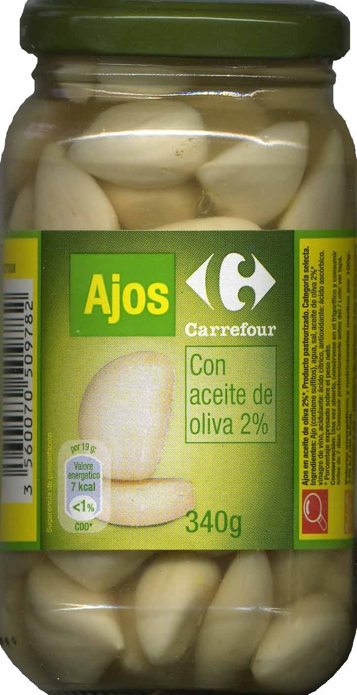 "Ajos encurtidos ""Carrefour"" - Producto"