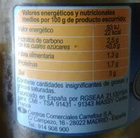 Pepinillo sabor anchoa - Nutrition facts - es