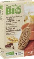 Biscuits Petit déjeuner Céréales et pépites choco - Prodotto - fr