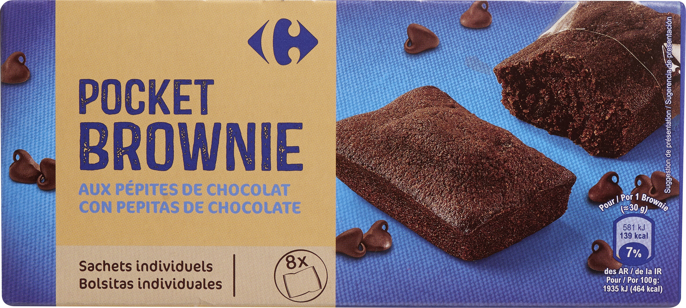 BROWNIE Aux Pépites de chocolat - Produit - fr