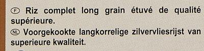 Riz Complet - Ingrediënten - nl