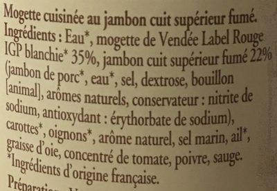 Mogettes de vendée au jambon fumé - Ingredienti - fr