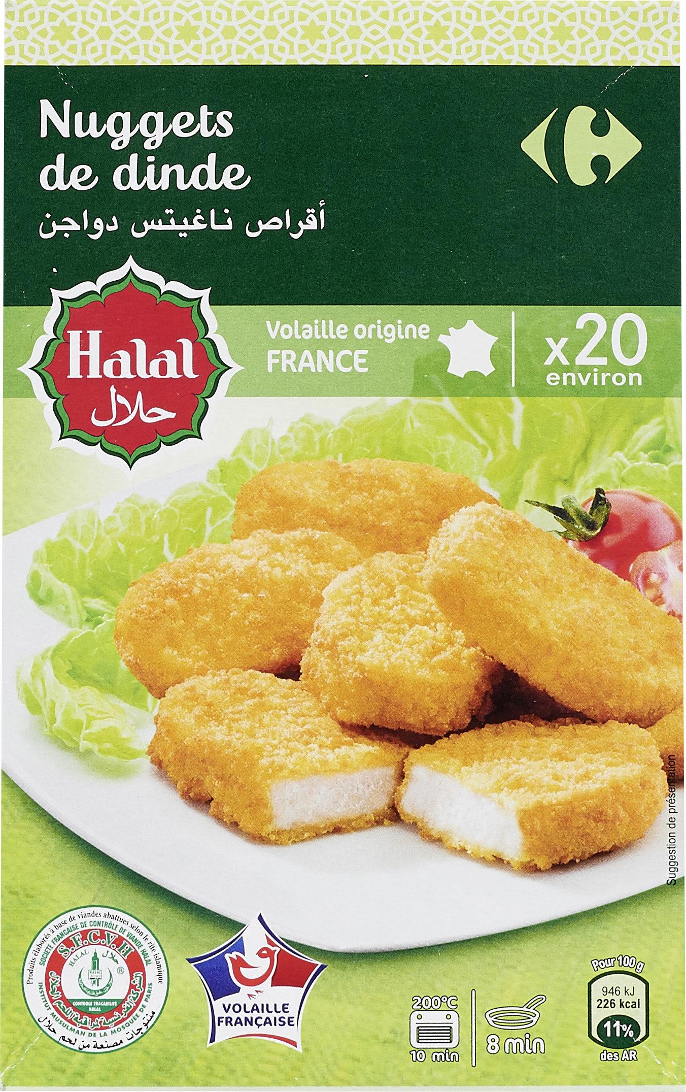 Nugget de Dinde Halal x20 environ - Produit - fr