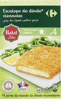 Escalope de dinde* viennoise halal * à partir de viande de dinde reconstituée - Prodotto - fr