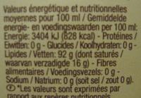 Huile d'Argan vierge bio - Valori nutrizionali - fr