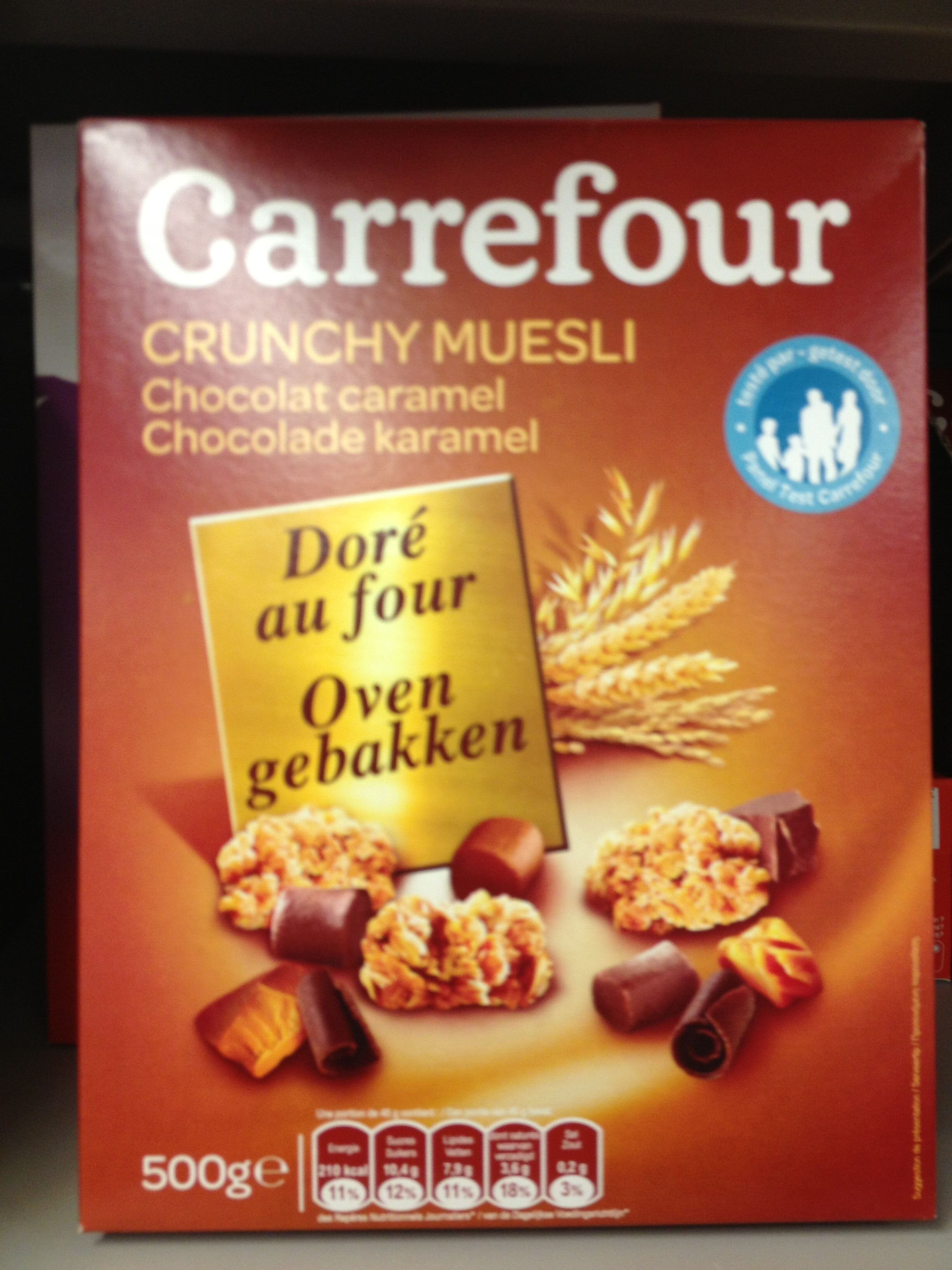 Crunchy Muesli Chocolat caramel Doré au four - Product