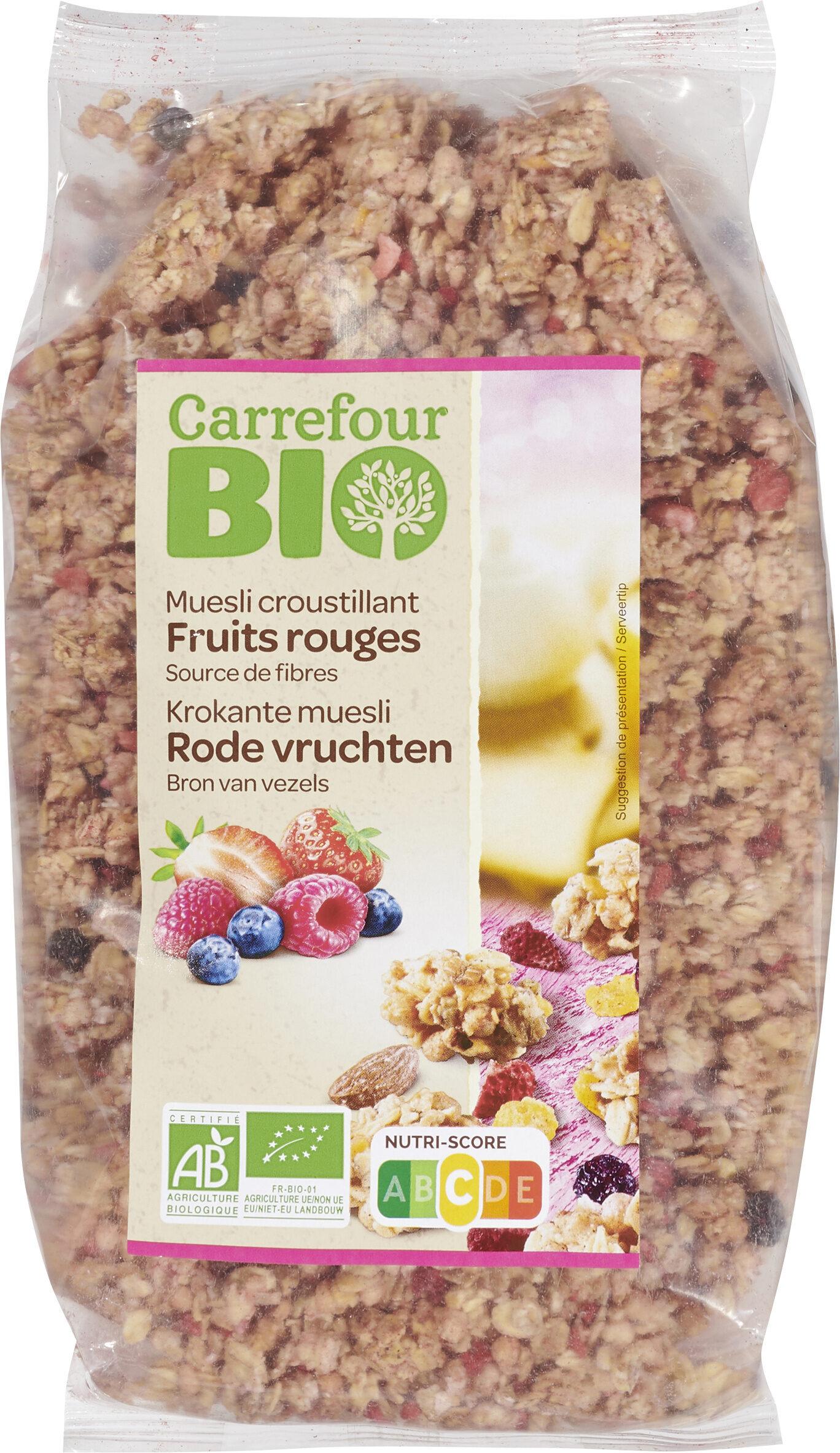 Muesli croustillant Fruits rouges - Produit - fr