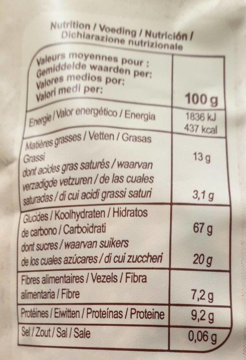 Muesli croustillant Fruits rouges - Informations nutritionnelles - fr