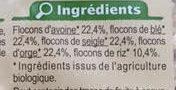 Muesli Floconneux 5 Céréales Nature Bio - Ingredients