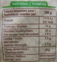 Son d'avoine Bio - Nutrition facts