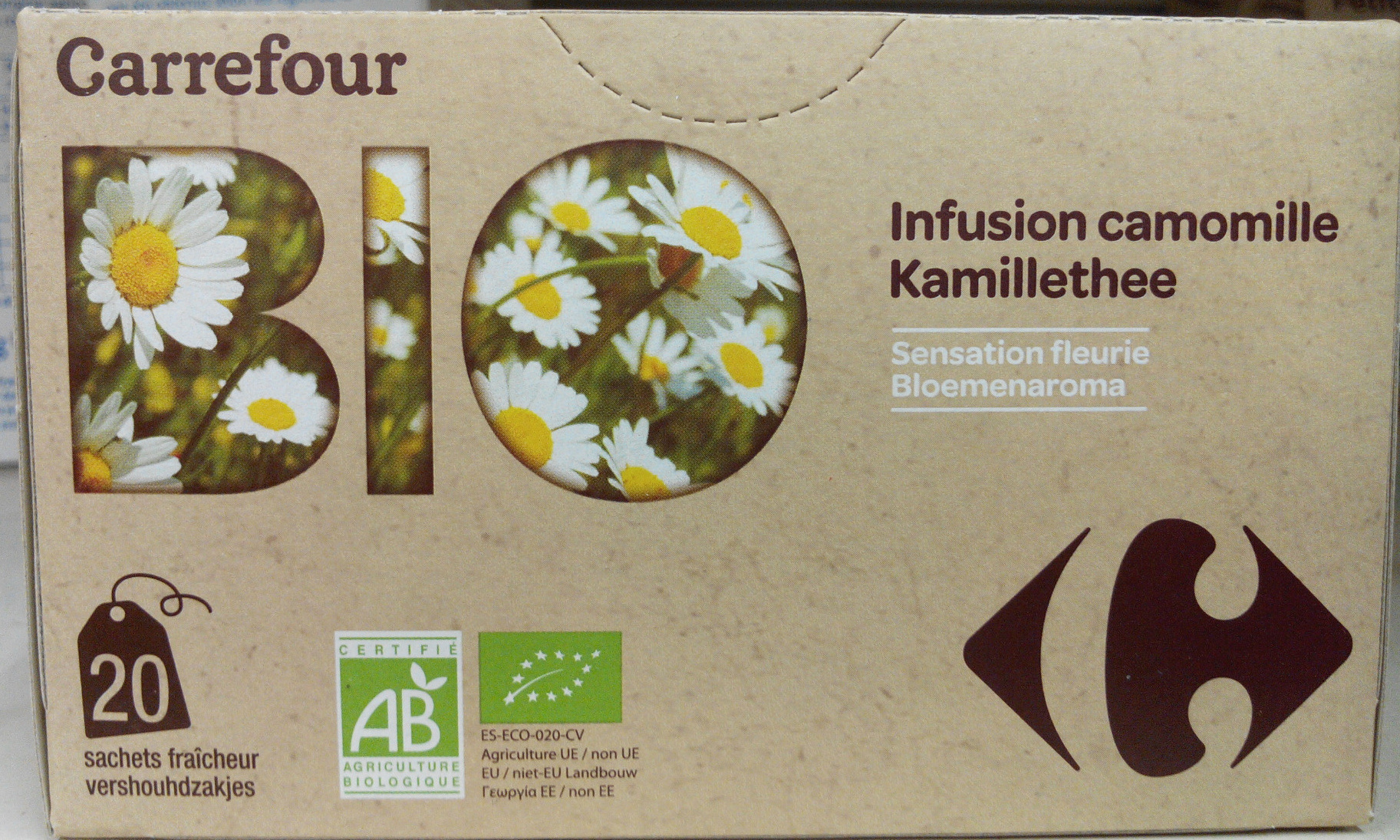 infusion camomille - carrefour bio