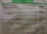 Son fin de blé Bio Carrefour - Nutrition facts