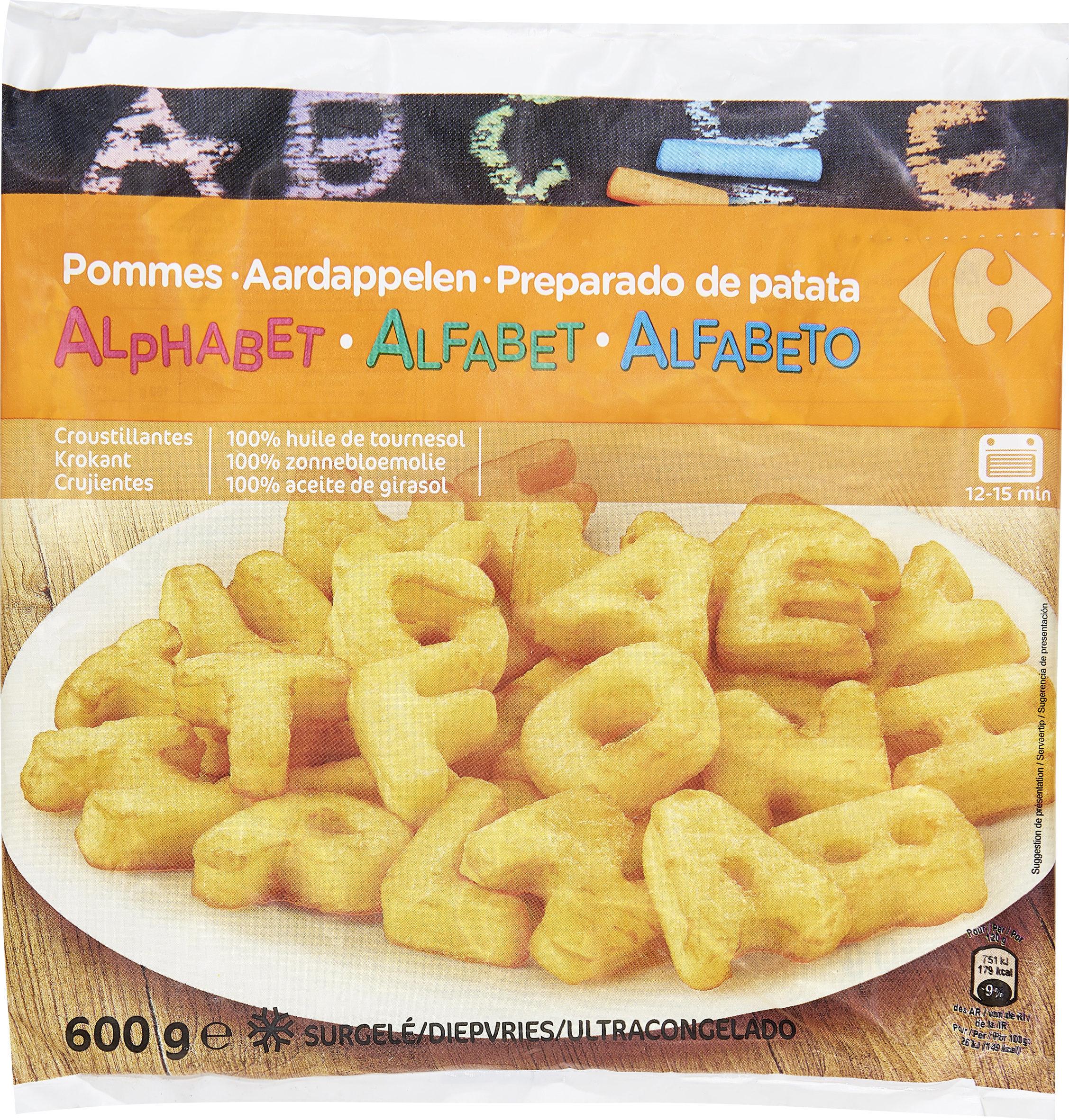 Pommes alphabet - Producto