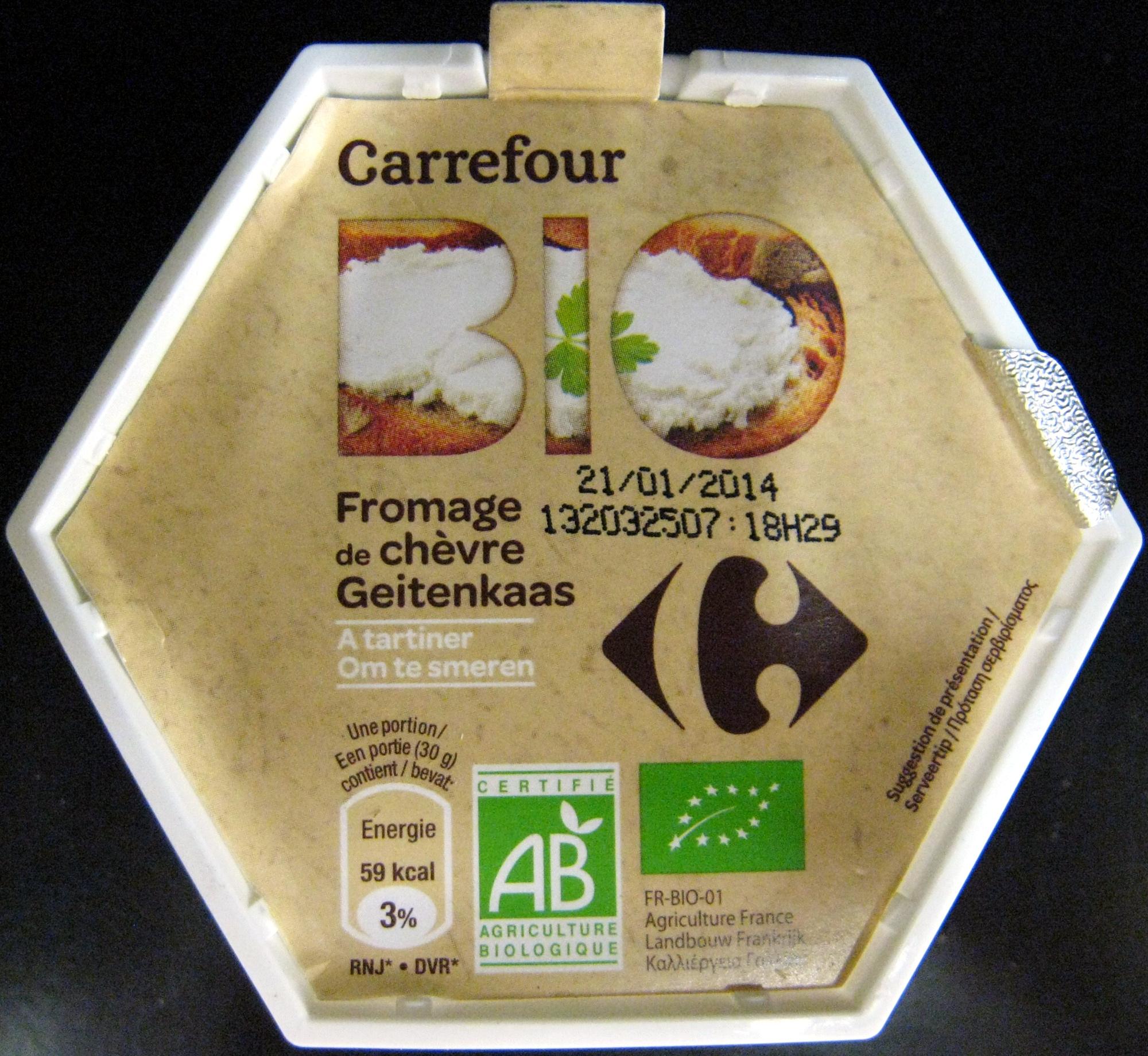 Fromage de chèvre à tartiner Bio Carrefour - Produit