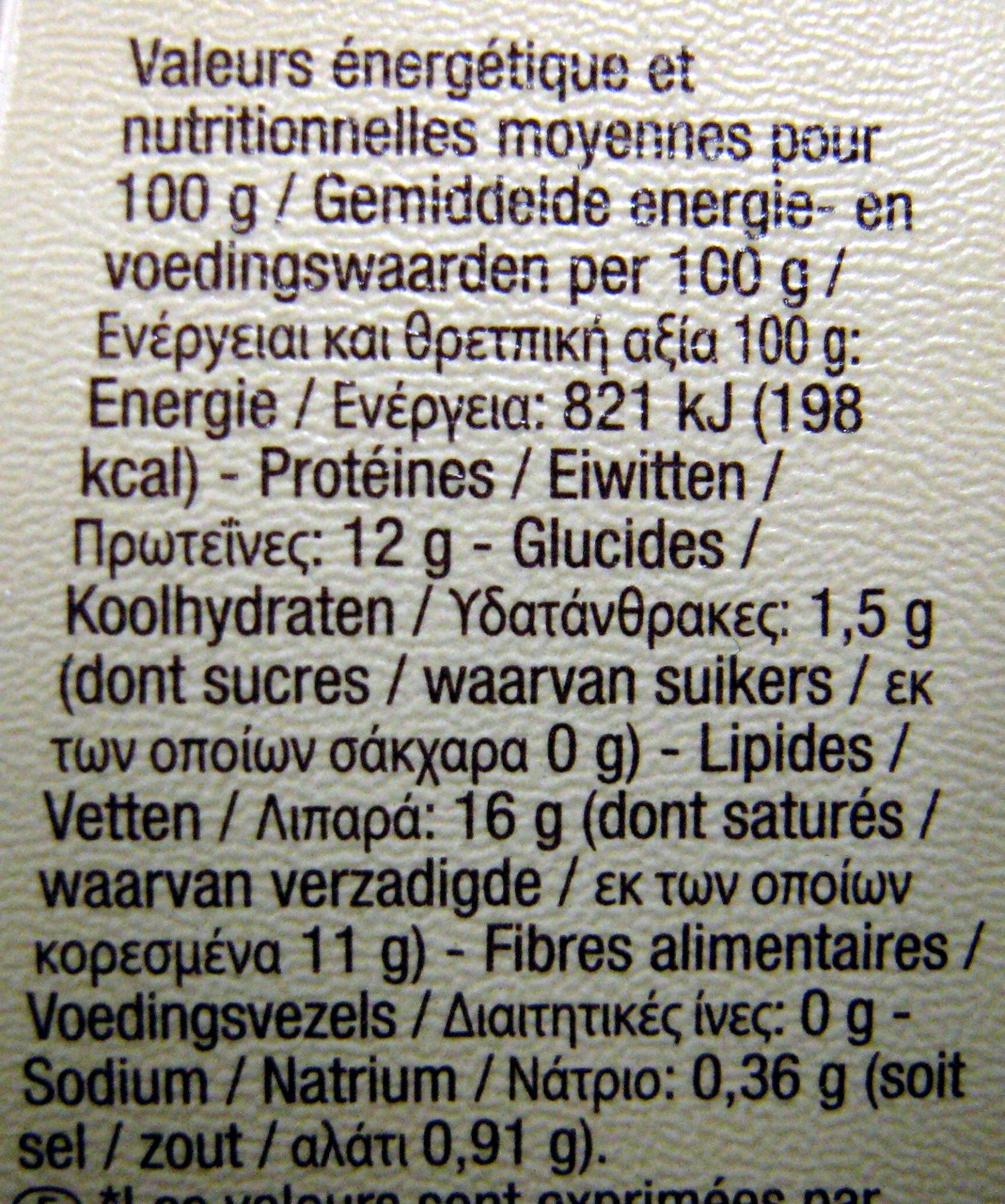Fromage de chèvre à tartiner Bio Carrefour - Informations nutritionnelles