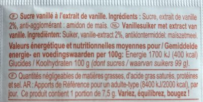 Sucre vanillé - Ingredients - fr