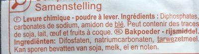 Levure chimique - Ingredients