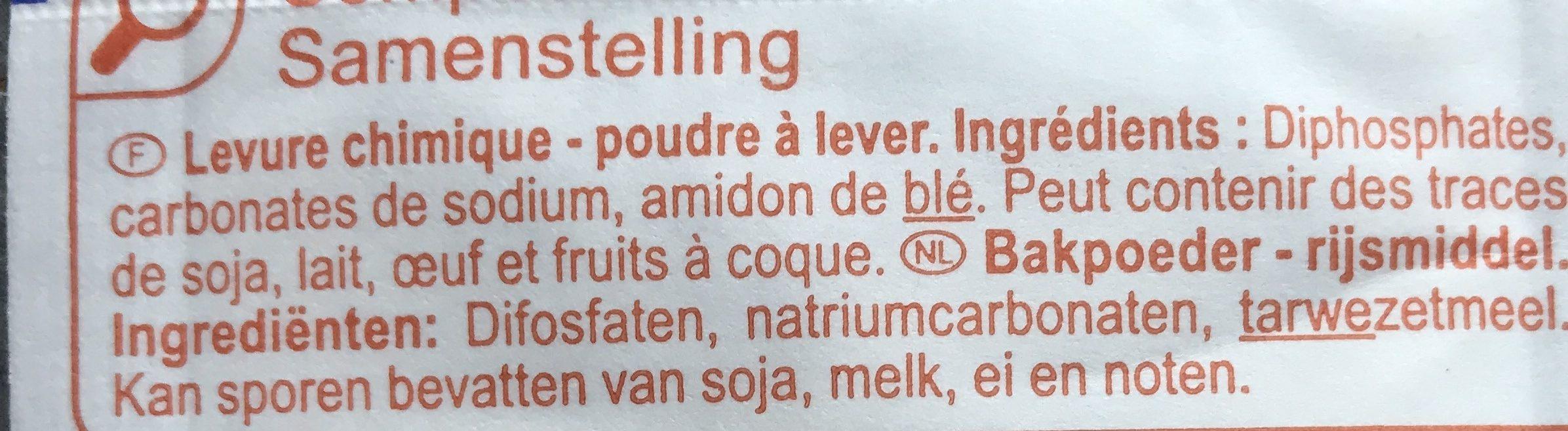 Levure chimique - Ingredientes - fr