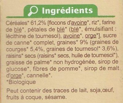 Muesli croustillant Graines de courge et de tournesol - Ingrédients - fr