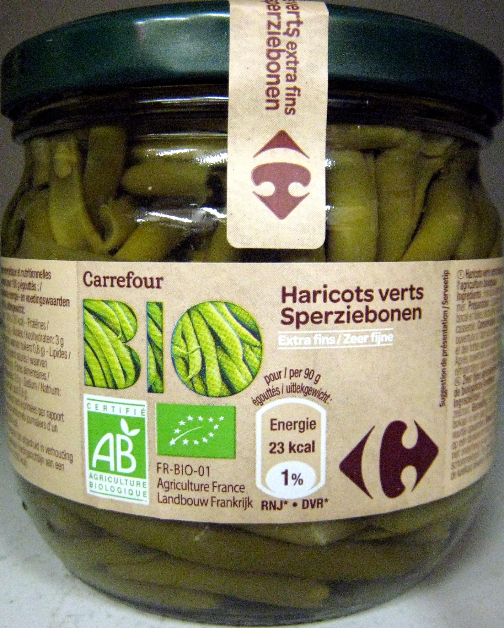 Haricots verts Extra fins Bio - Produit