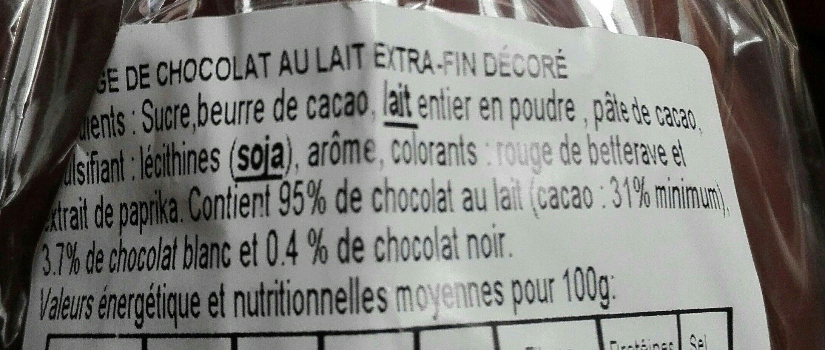 Œuf chocolat au lait décoré Hello Kitty - Ingredienti - fr