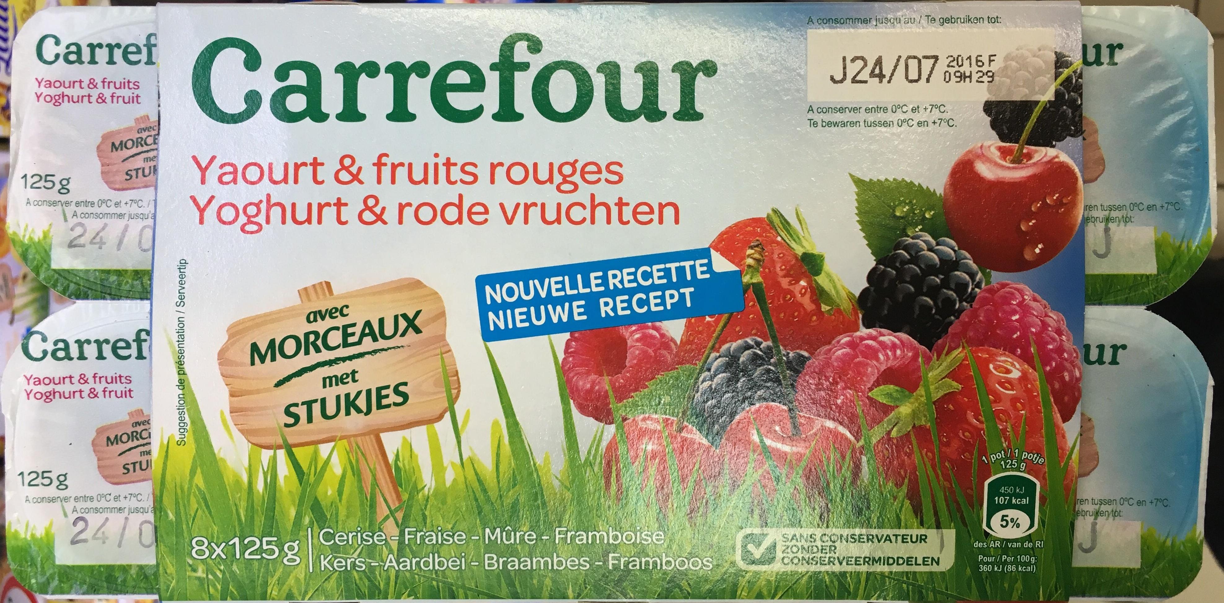 Yaourt fruits rouges avec morceaux - Product - fr
